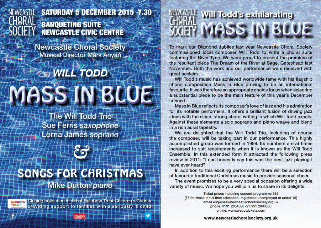 Mass in Blue and Christmas Flier