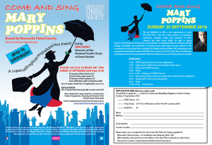 Mary Poppins Leaflet
